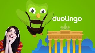 Learning German with Duolingo, LIVE!  (Part 1)