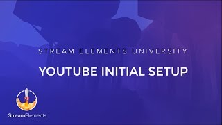 StreamElements Initial setup for YouTube thumbnail
