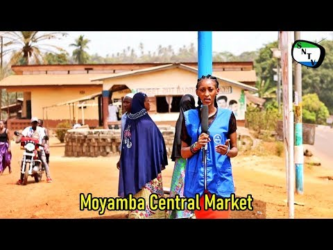 Moyamba Central Market - Sierra Leone Provincial District To
