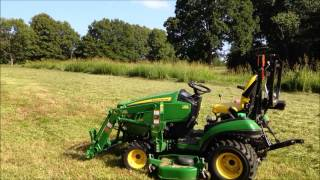 Can the John Deere 1025R and 60D mower mow a pasture?