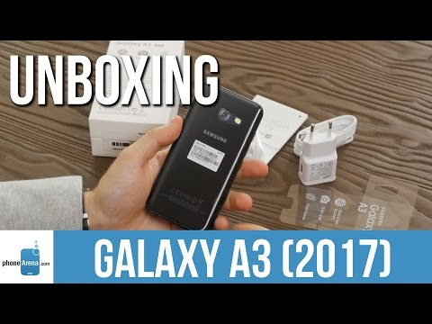 Samsung Galaxy A3 (2017) unboxing and first look