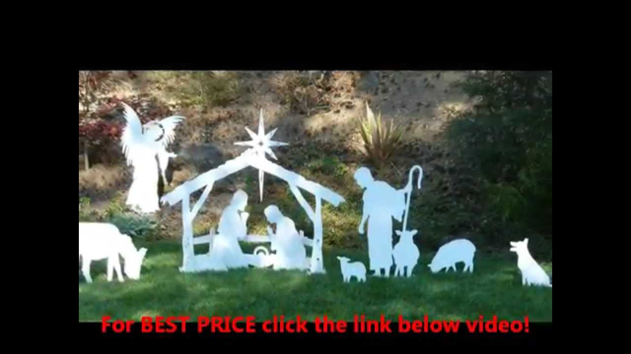 medium outdoor nativity sets prices outdoor christmas decorationsnativity sets youtube - Outdoor Christmas Decorations Nativity Scene