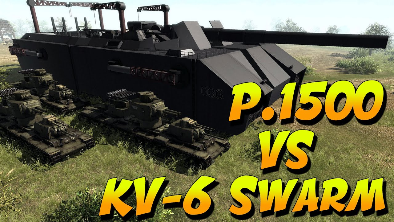 landkreuzer vs kv 6 swarm men of war mondays youtube. Black Bedroom Furniture Sets. Home Design Ideas