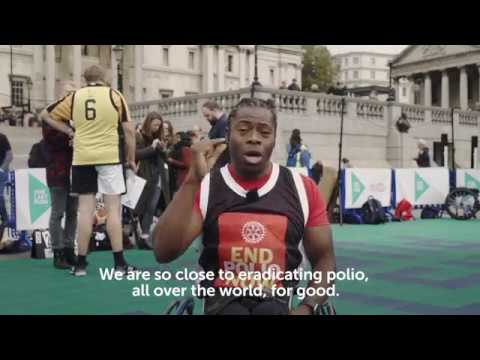 Ade Adepitan plays wheelchair basketball with MPs on World Polio Day