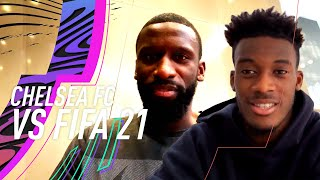 Rudiger teases Hudson-Odoi about his FIFA 21 rating 😂 | Hudson-Odoi & Rudiger vs FIFA 21