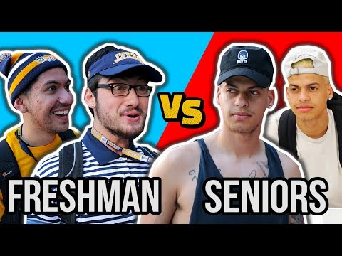 College: Freshman vs Seniors