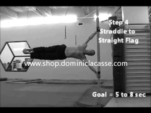 Dominic Lacasse - Tutorial Human Flag. Learn, training, acrobatic, dvd, conditioning, pole fitness