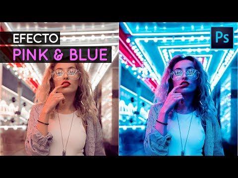 Efecto Pink & Blue en Photoshop