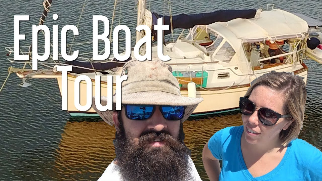 Epic Boat Tour of our Island Packet sailboat - The Boat Life liveaboard travel vlog