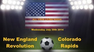 New England Revolution vs Colorado Rapids Predictions Major League Soccer 2014