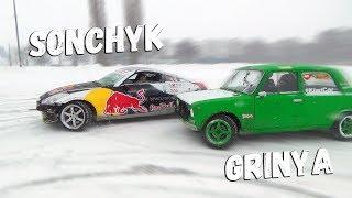 Парний дрифт з чемпіоном | Сніжне божевілля на Nissan 350Z і ''спис''