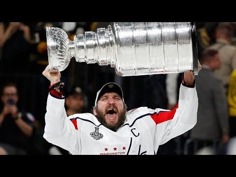 Alexander Ovechkin lifts Stanley Cup after Capitals victory
