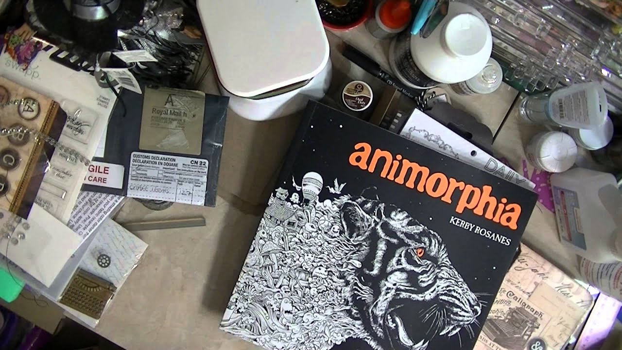 Online Hauls YSS Stamps And Amazon Molds Animorphia Coloring Books