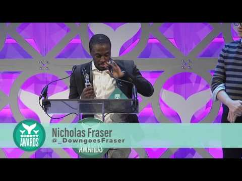 Nicholas Fraser accepts the Shorty Award for Vine of the Year