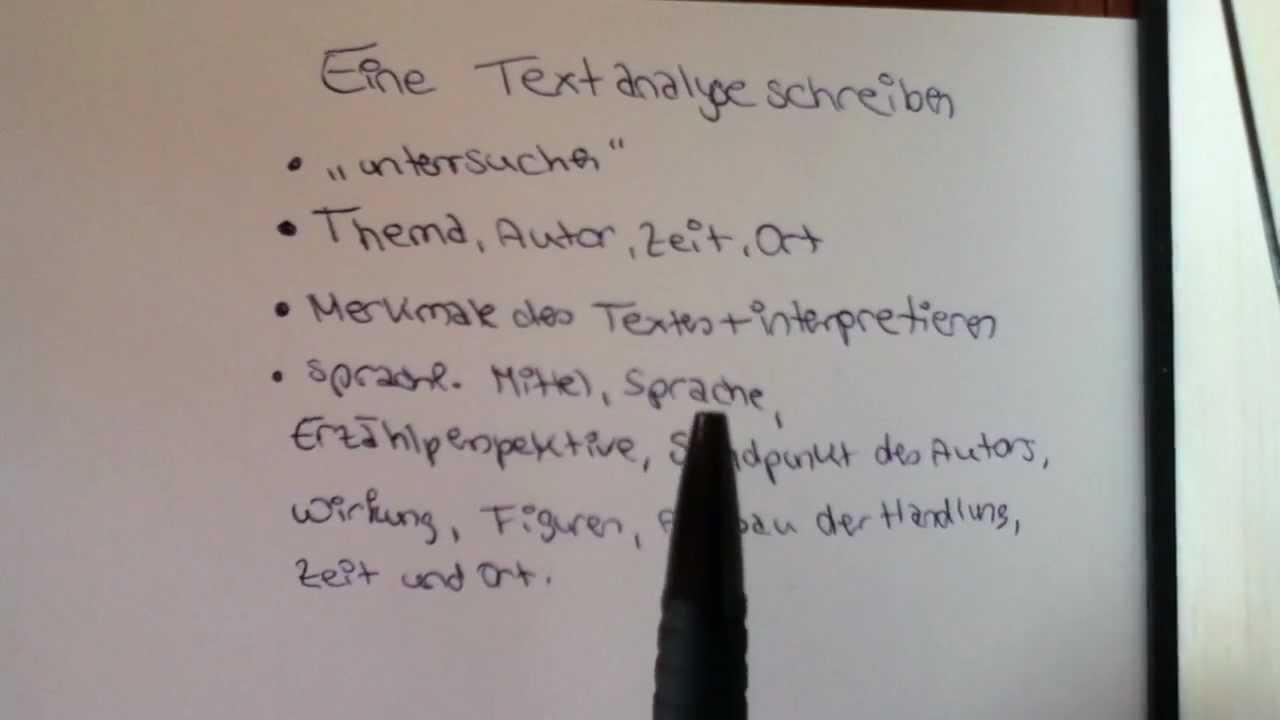 Eine Textanalyse Schreiben Aufbau Und Beispiel Für Den Deutsch