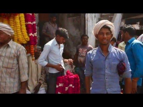 Flowers market in Varanasi