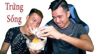 PHD | Thử Ăn Cơm Trộn Trứng Vịt Sống | Raw Eggs