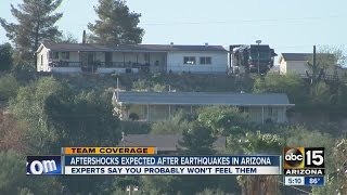 aftershocks expected after earthquakes in arizona