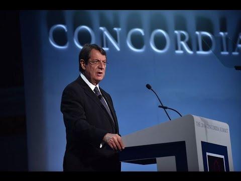 Cyprus President Anastasiades Addresses Concordia Summit 2016