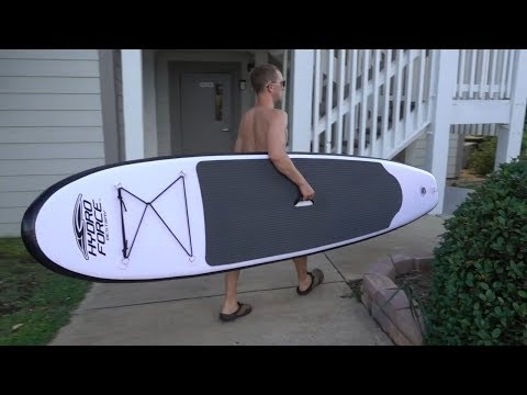 "HydroForce WaveEdge Inflatable Stand Up Paddle board iSUP 10'2""  UNBOXING Vid 1298"