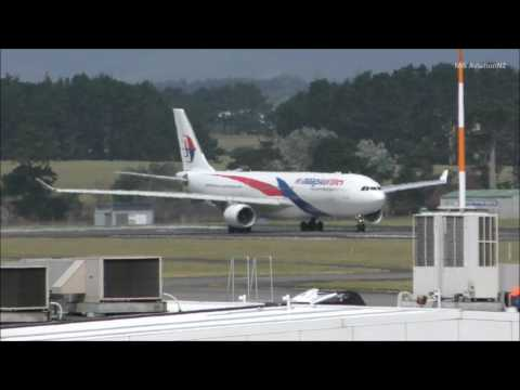 Malaysia Airlines Airbus A330-323 Takeoff Auckland Airport
