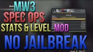 MW3 USB Spec Ops Mods with Download | Max Rank + Stats Mods | No Jailbreak