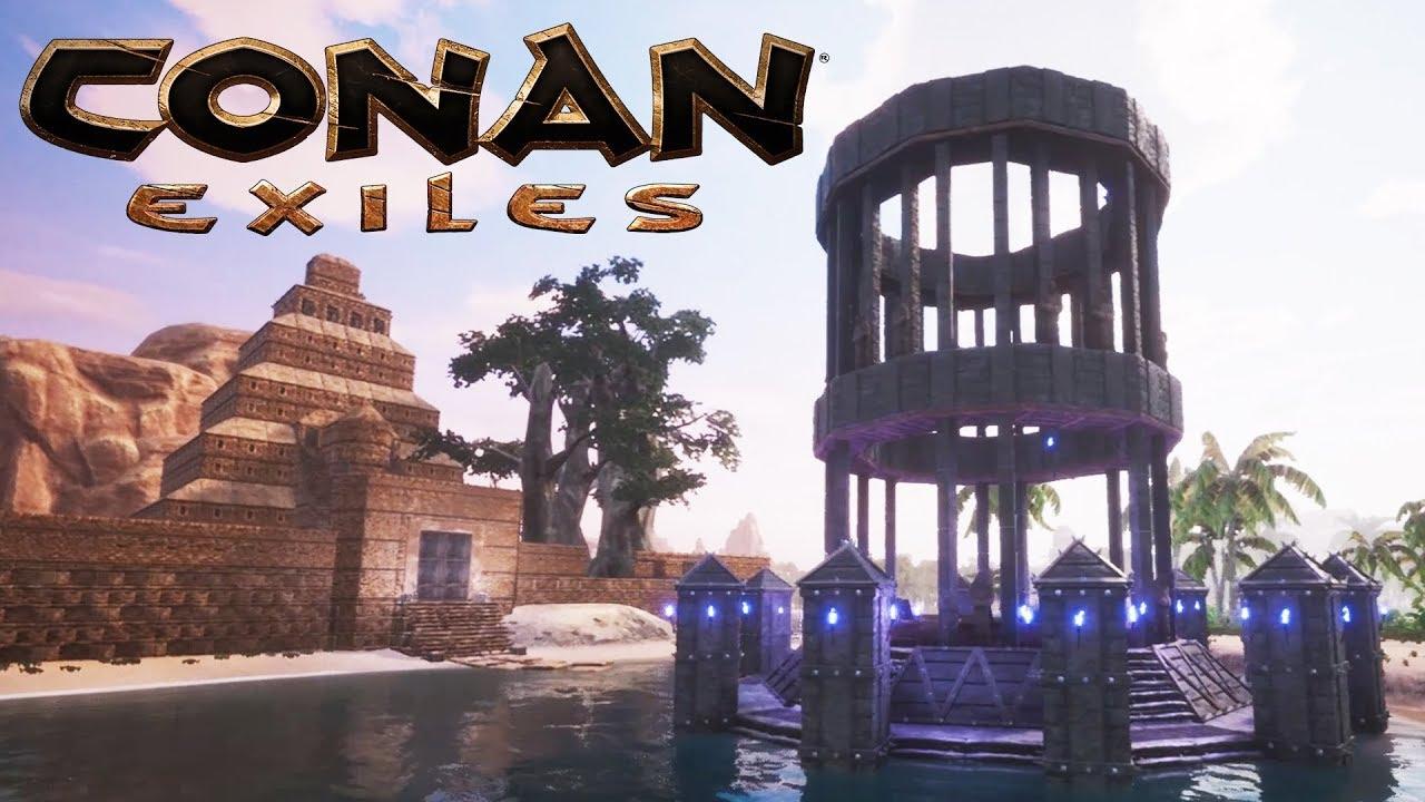 Conan Exiles (Spoiler) - The Map Room (Speed Build) - YouTube