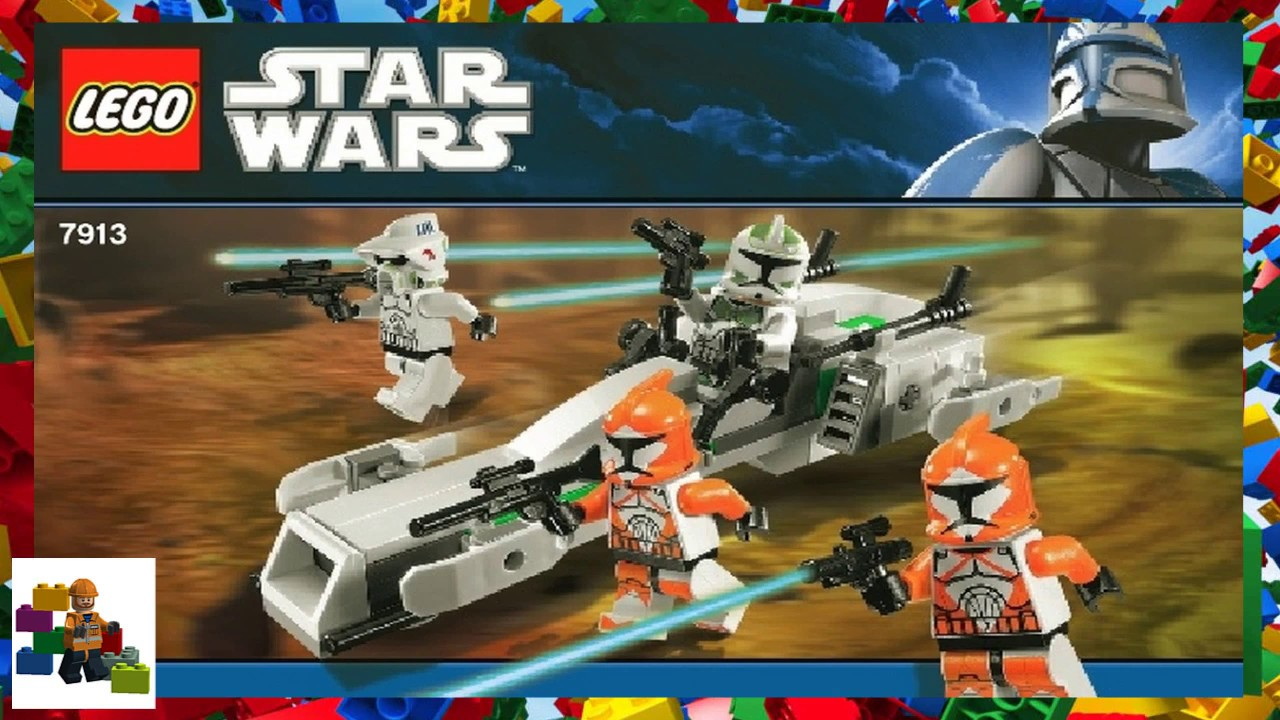 Lego Instructions Star Wars 7913 Clone Trooper Battle Pack