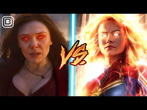 Captain Marvel Vs Scarlet Witch | Avengers Endgame Superhero Showdown In Hindi | BlueIceBear