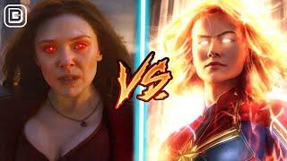 Captain Marvel Vs Scarlet Witch | Avengers Endgame Superhero Showdown In Hindi | BlueIceBear