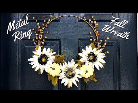 Fall Metal Ring Wreath | Fall DIY