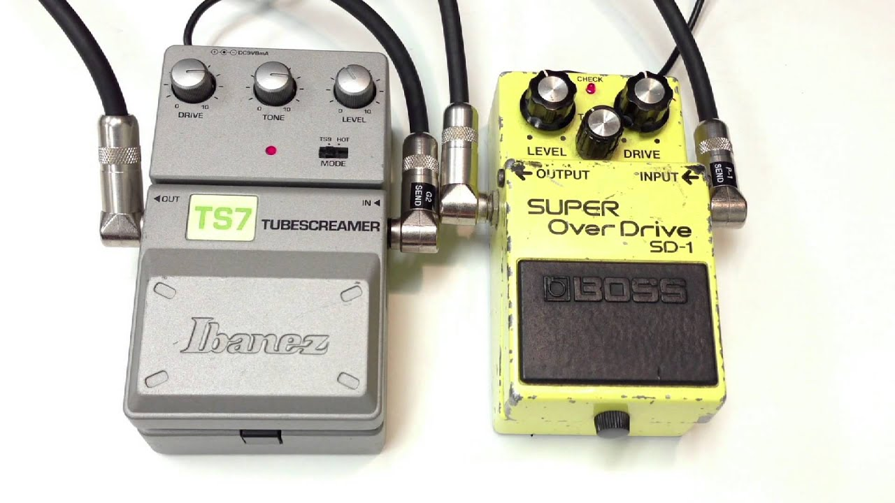 1982 boss sd 1 super overdrive vs ibanez ts7 tube screamer youtube
