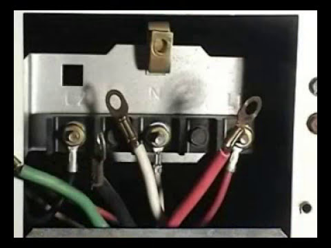 how to correctly wire a 4 wire cord in an electric dryer terminal 2 08
