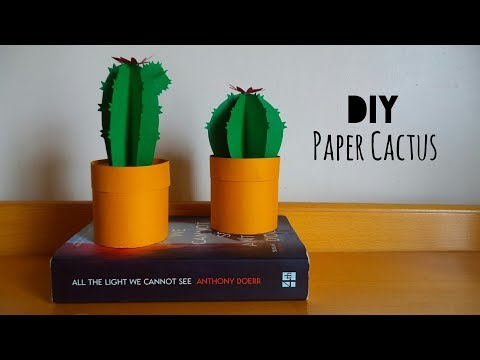 DIY: Cute Paper Cactus | My Crafting World