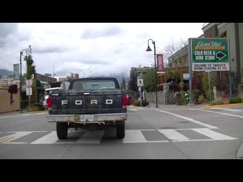 Driving In Creston BC Canada - Downtown Area - Small Town British Columbia - Kootenay Region