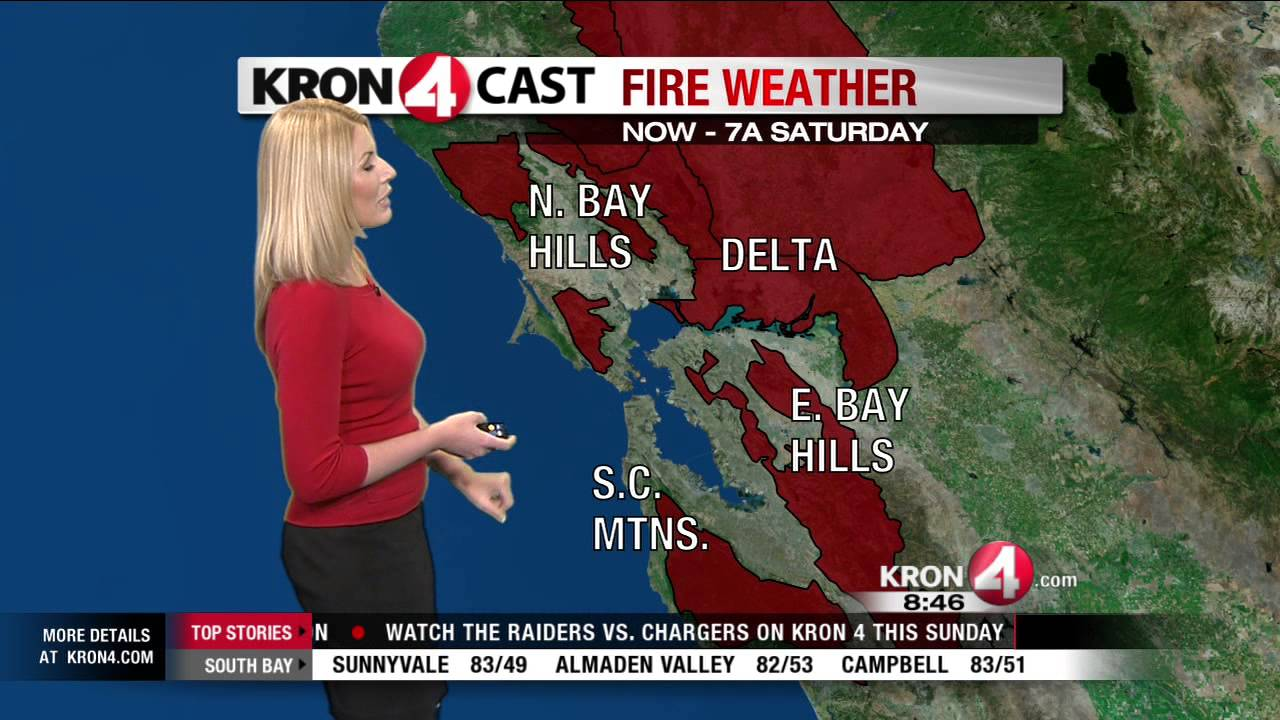 Kron 4 Fire Map.Friday Weather Preview Youtube