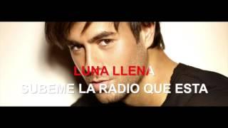 Enrique Iglesias - Subeme la Radio - Karaoke con testo