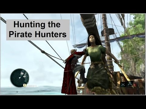 AC4 Naval Battles - Pirate Hunters. Jackdaw customization: Gilded Sails, Aquila's Wheel