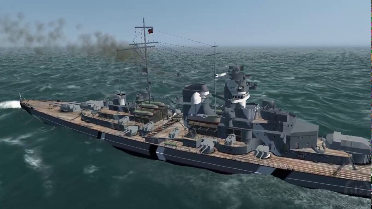 lsh3 dkm bismarck vs uss iowa youtube