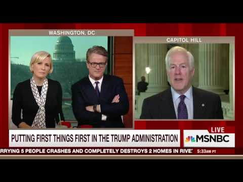Cornyn Previews Trump's Joint Address on Morning Joe