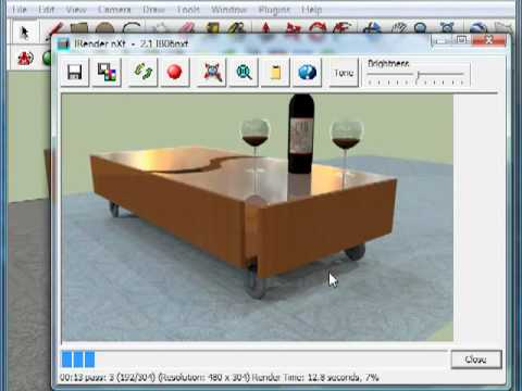Sketchup rendering simple object rendering using irender for Rendering gratis