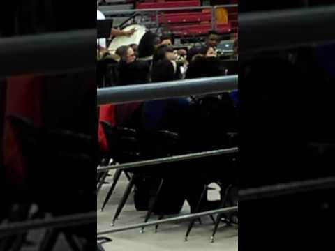 Liberty Eylau Middle School Advanced Band Playing Carol Of the Bells/ Greensleeves