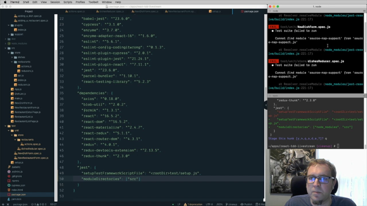 React TDD part 10 - Cleanup and Refactoring