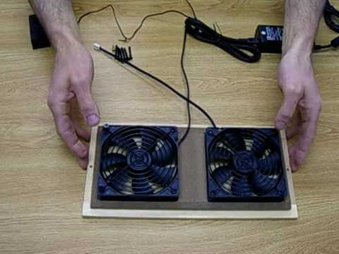 CabCool1202 Dual 120mm Fan Cooler Kit With Custom Wood Grill/Thermal  Controller 840556089735   YouTube