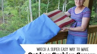 This video is not available. Easy Way to Make Outdoor Cushion Covers