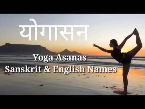 yoga poses english names with pictures