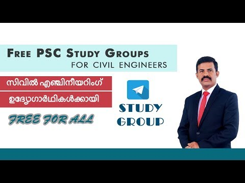 Free Telegram groups for PSC preparations for civil engineers