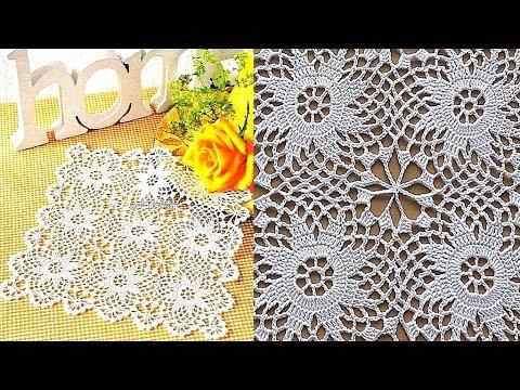 Crochet doily Crochet Motif for Doily Tablecloth Part 1