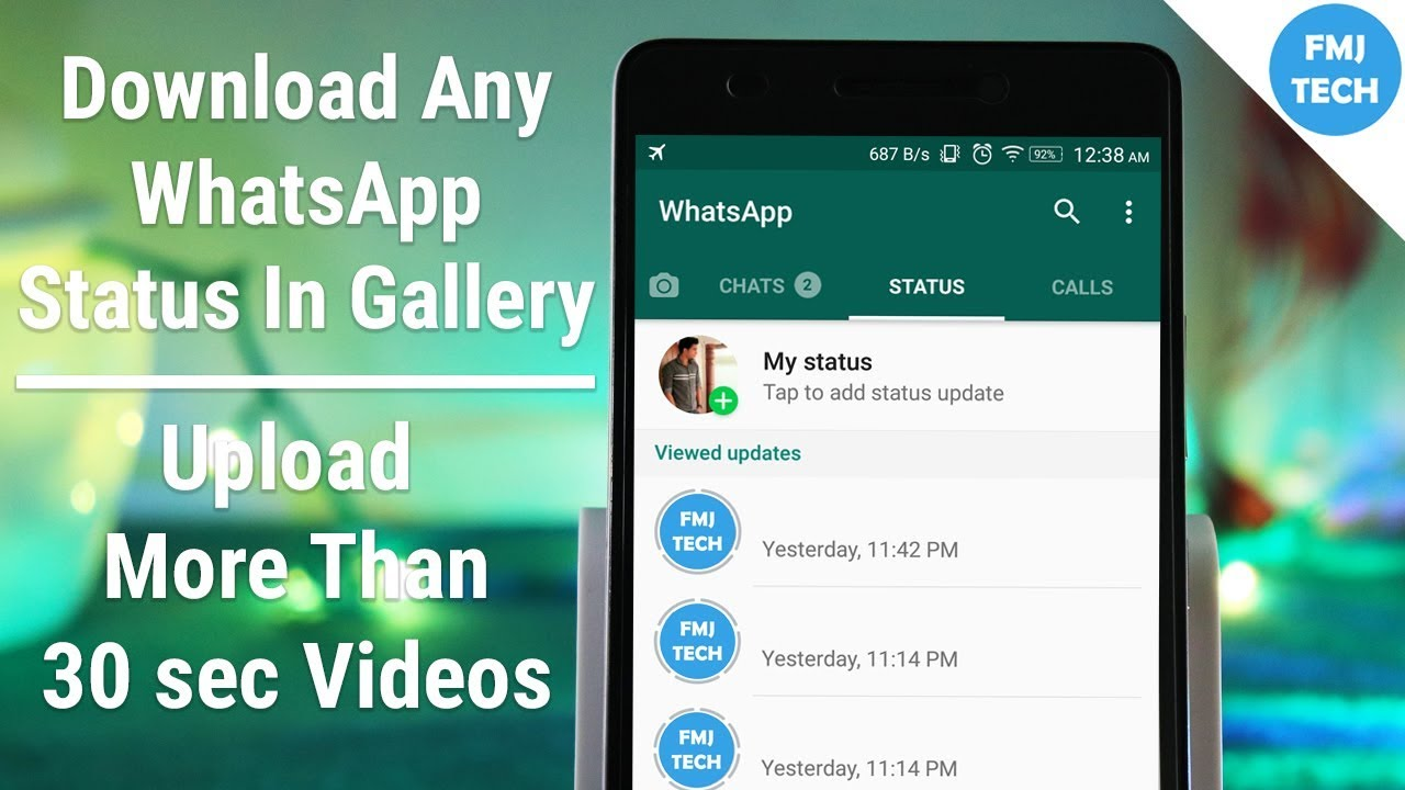 Download Any Whatsapp Status In Gallery Upload More Than