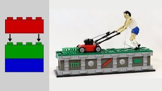 Building the LEGO Lawn Mower Man